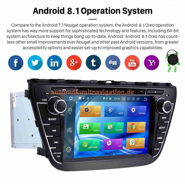 suzuki sx4 android 8 1 autoradio gps navigationsysteme 8. Black Bedroom Furniture Sets. Home Design Ideas