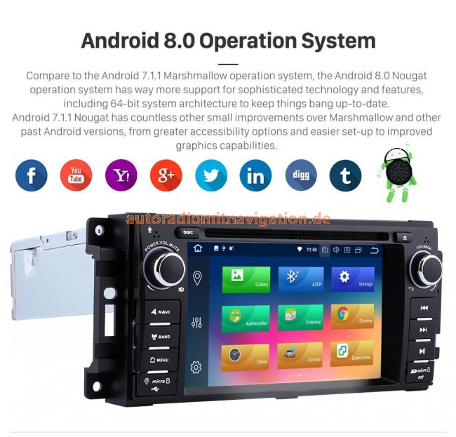 chrysler 300c android 8 0 autoradio gps navigationsysteme. Black Bedroom Furniture Sets. Home Design Ideas