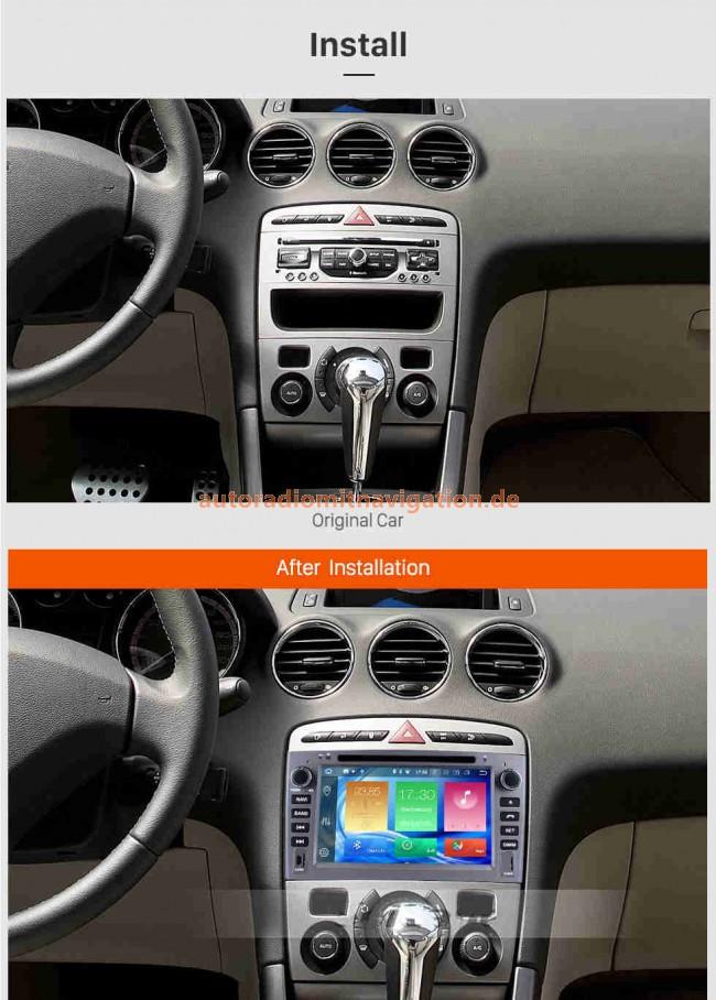 peugeot 308 android 8 0 autoradio gps navigationsysteme. Black Bedroom Furniture Sets. Home Design Ideas