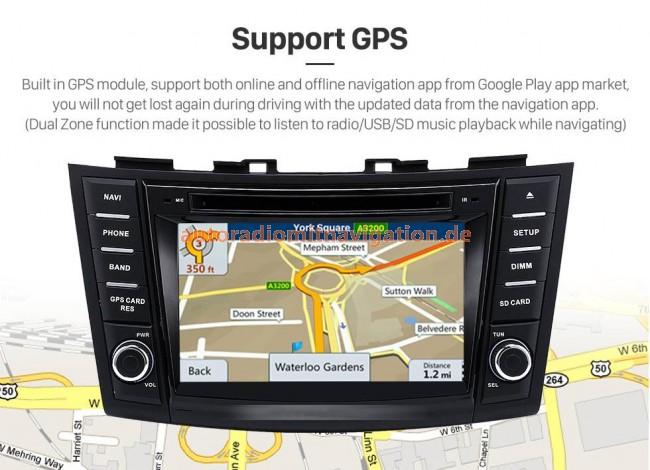 suzuki swift android 8 0 autoradio gps navigationsysteme. Black Bedroom Furniture Sets. Home Design Ideas