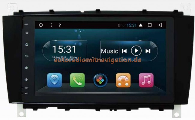 mercedes w203 android 8 1 autoradio gps navigationssysteme. Black Bedroom Furniture Sets. Home Design Ideas