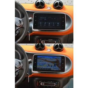 Smart Android 7.1 Autoradio GPS Navigationsysteme mit 2G Ram Touchscreen Bluetooth Freisprecheinrichtung Mikrofon DAB+ RDS CD SD USB 4G Wifi TV MirrorLink OBD2 - Android 7.1.2 Autoradio DVD Player GPS Navigation für Smart Fortwo/Forfour (Ab 2015)