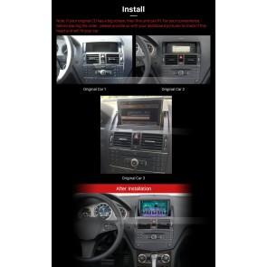 Mercedes C-Klasse W204 Android 7.1 Autoradio GPS Navigationsysteme mit 2G Ram Touchscreen Bluetooth Freisprecheinrichtung Mikrofon DAB+ RDS CD SD USB Wifi TV OBD2 - Android 7.1.1 Autoradio DVD Player GPS Navigation für Mercedes C-Klasse W204 (2007-2011)